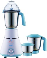 Bajaj GX 11 750 W Mixer Grinder(white turquoise, 3 Jars)