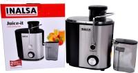 Inalsa Juice Extractor 500 W Juicer(Black, 2 Jars)