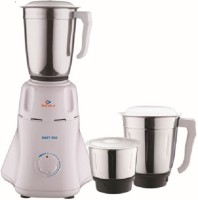 Bajaj Easy 500 W Mixer Grinder(White, 3 Jars)