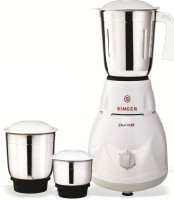 Singer Duro Plus 500 W Mixer Grinder(White, 3 Jars)