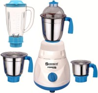 Sunmeet ABS Body MG16-WFJ130 1000 W Juicer Mixer Grinder(Multicolor, 4 Jars)