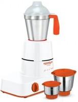 MAHARAJA WHITELINE MX-141 Novello 500 W Mixer Grinder (3 Jars, White, Orange)