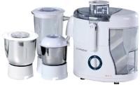 Electrosense Best-111 550 W Juicer Mixer Grinder (3 Jars, White)