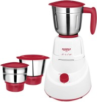 MAHARAJA WHITELINE MX-151 Livo 500 W Mixer Grinder (3 Jars, Red, White)
