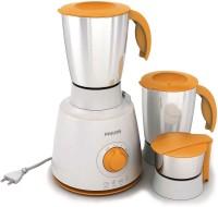 PHILIPS Mixer Grinder HL7610 500 W Mixer Grinder (3 Jars, White & Orange)