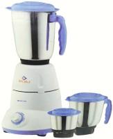 Bajaj Bravo Dlx 500 W Mixer Grinder(White, Blue, 3 Jars)