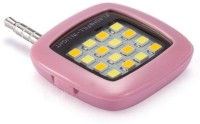GOGLE SOURCING Portable 16 LED Selfie Enhancing Dimmable Rechargeable Fill-in Light Torch for All Smartphone, Tablet, iPhone Flash(Pink)