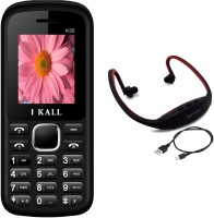 I Kall K55 with MP3/FM Player Neckband(Black & White)
