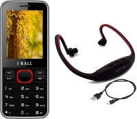 I Kall K23 with MP3/FM Player Neckband(Black & Red)