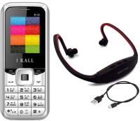I Kall K16 with MP3/FM Player Neckband(White)