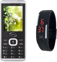 Infix A10 with Silicon LED Watch(Black)