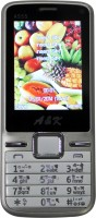 AK Bar Phone A 555(Silver, White)