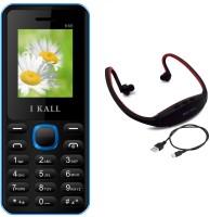I Kall K66 with MP3/FM Player Neckband(Blue & Black)