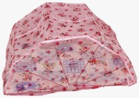 Elegant Fabrication Polyester Infants 2*3 Feet Printed Polyester Baby care Mosquito Net(Pink)