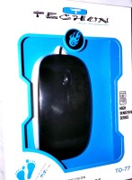 View TECHON TO-77 Wired Optical Mouse(USB, Black) Laptop Accessories Price Online(TECHON)
