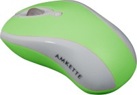 Amkette Wave USB 2.0 Mouse(USB, Green)