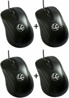 View Lapcare Pack Of 4 Wired Optical Mouse(USB, Black) Laptop Accessories Price Online(Lapcare)