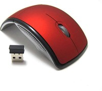 speed Foldable Wireless Optical Mouse  with Bluetooth(Red)