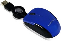 Amkette Atom Wired Optical Mouse(USB, Blue)