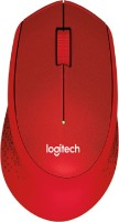View Logitech m331 silent plus Wireless Optical Mouse(USB, Red) Laptop Accessories Price Online(Logitech)