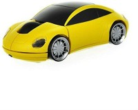 Shrih Car Shaped LED Lights Wired Optical Mouse(USB, Yellow)