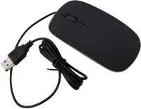 View Speed Slim Ultrathin Wired Optical Mouse(USB, Black) Laptop Accessories Price Online(Speed)