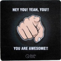 View QuoteSutra You are Awesome Mousepad(Black) Laptop Accessories Price Online(QuoteSutra)