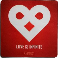 View QuoteSutra lOVEInfinite-MP Mousepad(Red) Laptop Accessories Price Online(QuoteSutra)