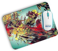 View Shoppersbucket Digital Abstract Mousepad(Milti Color) Laptop Accessories Price Online(Shoppersbucket)