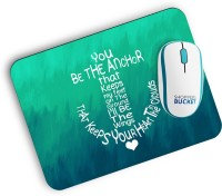 View Shoppers Bucket Be The Anchor Mousepad(MultiColor) Laptop Accessories Price Online(Shoppers Bucket)
