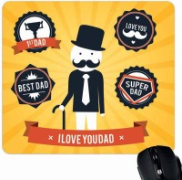 View Giftsmate My Super Dad Mousepad(Multicolor) Laptop Accessories Price Online(Giftsmate)