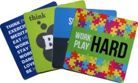 QuoteSutra Collection For Startup & Entrepreneurs to Inspire & Motivate Set Of 4 Mousepad(Multicolor, Blue, Black, Green)