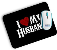 View Shoppersbucket Love Husband Mousepad(Black) Laptop Accessories Price Online(Shoppersbucket)