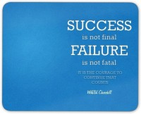 Digiclan Success is not failure Mouse Pad Mousepad(Blue)