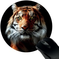 View Huppme Tiger Mousepad(Black) Laptop Accessories Price Online(Huppme)