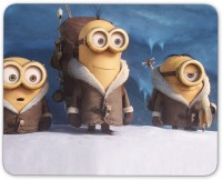 Digiclan 3 Shocked Minions Mouse pad Mousepad(Multicolor)