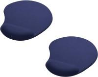 View Outre 2PC Wrist Comfort Mat Mousepad(Blue) Laptop Accessories Price Online(Outre)