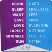 View QuoteSutra Life sutra 2 Mousepad(Multicolor) Laptop Accessories Price Online(QuoteSutra)