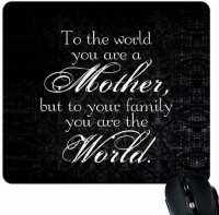 View Giftsmate Mother My World Mousepad(Multicolor) Laptop Accessories Price Online(Giftsmate)