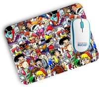 View Shoppers Bucket SuperCartoon Mousepad Mousepad(Multicolor) Laptop Accessories Price Online(Shoppers Bucket)
