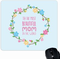 View Giftsmate Most Beautiful Mom Mousepad(Multicolor) Laptop Accessories Price Online(Giftsmate)