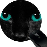 View Huppme Cat Eye Mousepad(Multicolor) Laptop Accessories Price Online(Huppme)