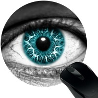 Huppme Blue Eye Mousepad(Black)
