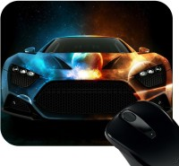 Huppme Good Quality Rubber Mousepad(Black)