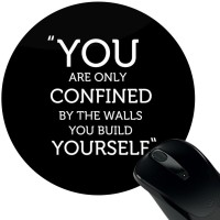 View Huppme You & Yourself Mousepad(Black) Laptop Accessories Price Online(Huppme)