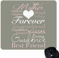 View Giftsmate Mom the Best Friend Mousepad(Multicolor) Laptop Accessories Price Online(Giftsmate)
