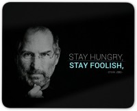 Digiclan Steve Job Stay Foolish Mouse pad Mousepad(Black)