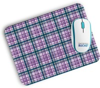 View Shoppers Bucket Hipster Plaid Mousepad(MultiColor) Laptop Accessories Price Online(Shoppers Bucket)