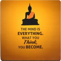 View QuoteSutra Time Mousepad(Yellow) Laptop Accessories Price Online(QuoteSutra)