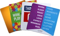 QuoteSutra Collection to Inspire & Motivate Employees Set of 4 Mousepad(Yellow, White, Multicolor)